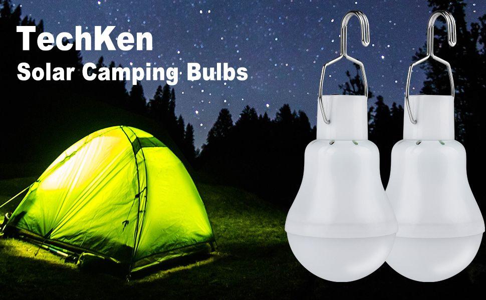 TechKen Solar Bulbs Lights Outdoor