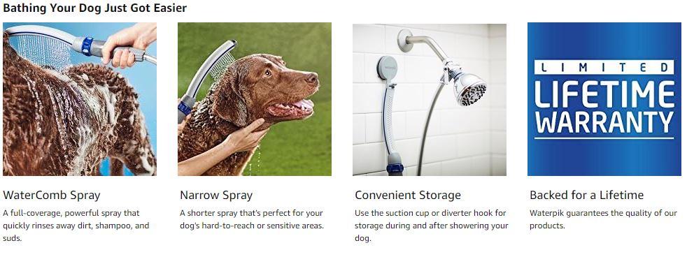 Waterpik PPR 252 Pet Wand Pro Shower Sprayer 1
